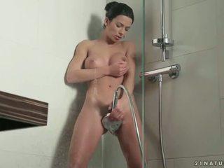 Shalina Divine masturbating in the shower