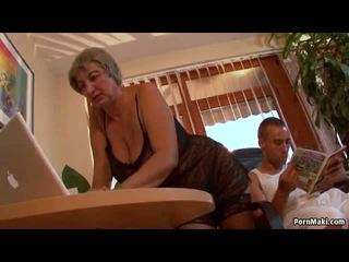Busty Granny Wants Young Dick, Free Mature Porn Video f0