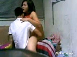 Jakarta couples fucking at dorm