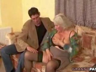 Busty Granny Takes Young Cock, Free Granny Young HD Porn e0