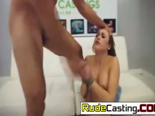 Perv makes innocent Marina Angel chokes with his cock