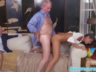 Latina Teenager Doggystyled by this Oldman: Free HD Porn 99