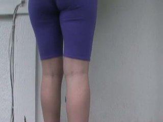 Tobi Pacific pornstar wetting spandex pants