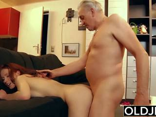 Young Slut Hard Fucked by Old Horny Man He Fucks Her...