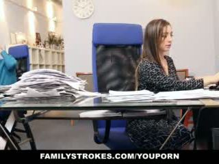 Familystrokes - part time step daughter becomes full-time slut