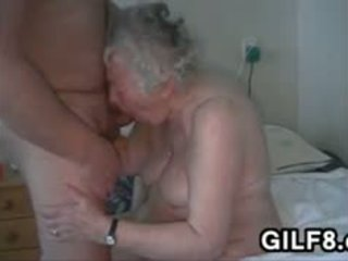 Naughty Granny Masturbates And Sucks Cock