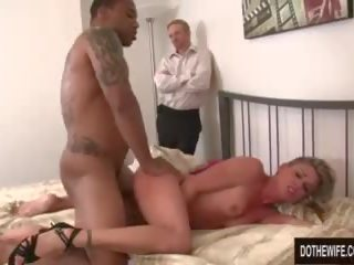 White Guy Watches Wife Fucked by Black Guy