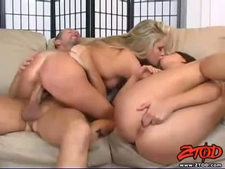 Shawnie rides her cunt on a hard meatpole whiles kissing her Haley Paige