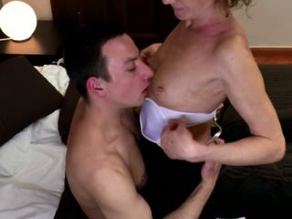 Granny Fucked into Hairy Pussy with Young Cock: HD Porn 98