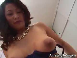 Busty Japanese Girl In Lingerie Sucking Part4