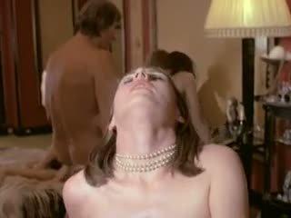 Hairy Pussy Brigitte Lahaie Leads European Group Sex...