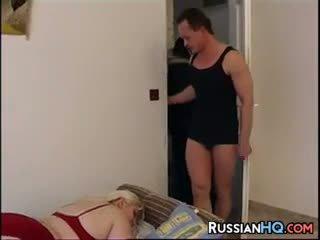 Blonde BBW In A Threesome