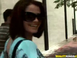 Redhead latin babe Miss Raquel picked up on street
