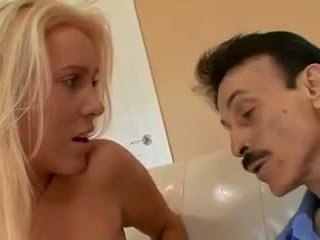 Older Husband watches yonger Wife fuck another Man