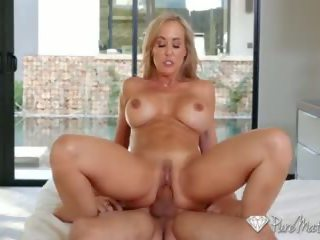 PURE MATURE Busty Milf Brandi Love sits on lucky dudes face
