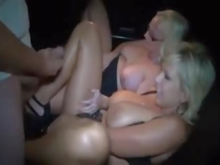 Two Blonde MILFs at a Dirty Theater, Free Porn 45
