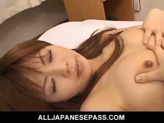 Japanese Teen An Himeno In Black Lingerie Sucking Dick