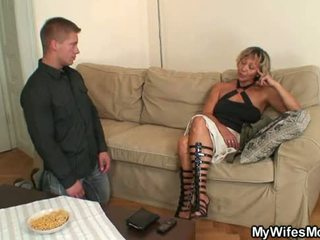 Son in law bangs my horny old pussy