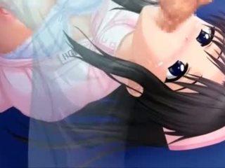 Deep throated anime nurse gets mouth cum filled