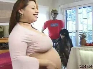 Big Tits Horny Pregnant Asian Wh...