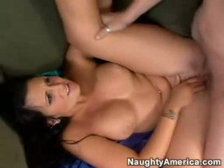 Filthy busty Corina Jayden always wants to get her mouth cummed after a hot fuck