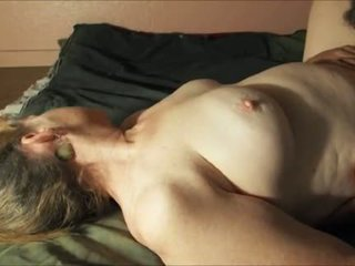 He eats her mature vagina