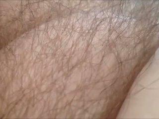 He loves teasing her pubic hair