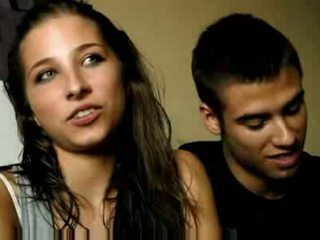 Young spaniard couple in spain