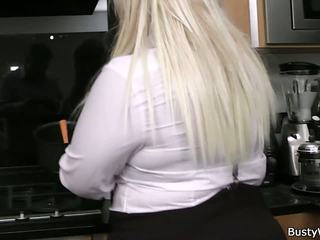 Plump Blonde Secretary in Stockings, Free Porn 60