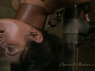 MILF tied up and fucked with a machine