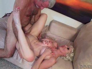 Horny Granny Dalny Takes A Hard Cock In Her Ass