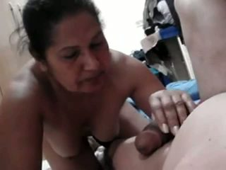 Mature Indian Aunty Licking And Sucking Cock