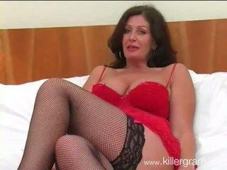 Big breasted slut wife fucks black hunk in sexy lingerie