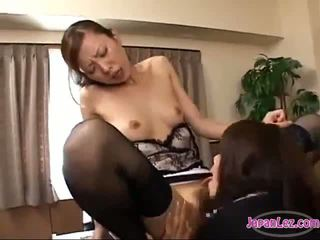 Office Lady Licking Her Boss Pussy Getting Her Nipples Sucked Tits Rubbed On The Desk In The Office