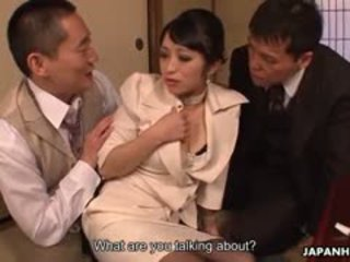 Classy Office Lady Yukina Aoyama Gets Used After A Dinner