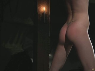 Slim slave ass whipped till rosy than fucked