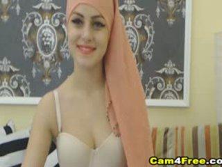 My Beautiful Muslim Neighbor Strokes Her Toy