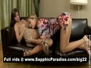Lovely Blonde And Brunette Licking Pussy And Having Lesbian