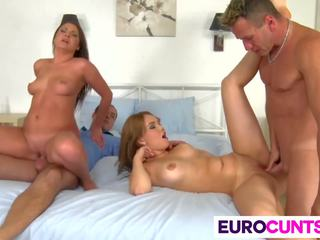 Euro Girls Kristina Miller and Courtney Blue Fucked...