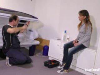German MILF Steffi Fuck The Repairman When Dad Is Away
