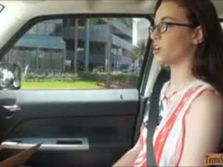 Tight Amateur Nerdy Teen Tali Dava Fucked In The Backseat