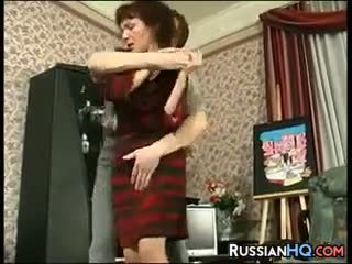 Mature Russian Fucked By A Young Guy