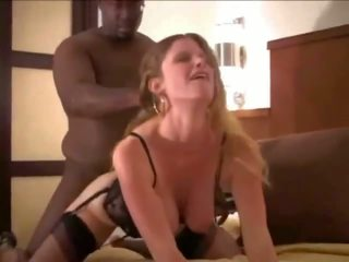 Young Wife Breeded in Black Lingerie by Husband: Porn 25