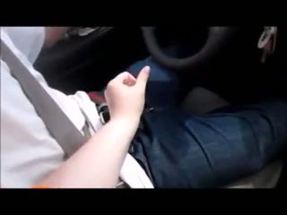 Hot BBW Jack Guy Off While Driving Around Town And Cum On Her
