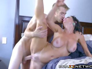 Horny Big Tits Brunette MILF Rammed Deeply by Big Dick