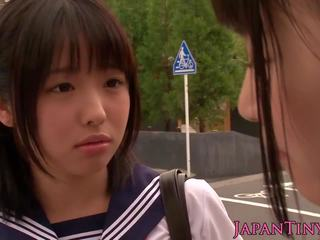 Petite Japanese Schoolgirls Fuck in Bathroom: Free Porn 7a