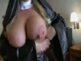 Nun With Big Tits POV Blowjob And Facial