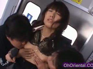 Perky Pretty Asian Babe Fucked On A Train