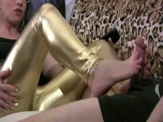 Shoot your hot cum all over my feet 2
