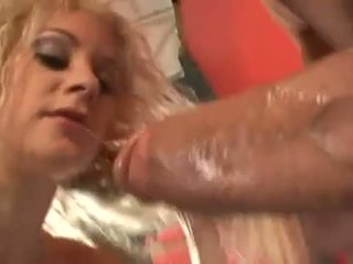 Victoria Givens gets soating wet as she deep sucks thick long cock
